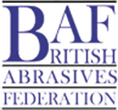 Abrasive safety training course, image of BAF logo