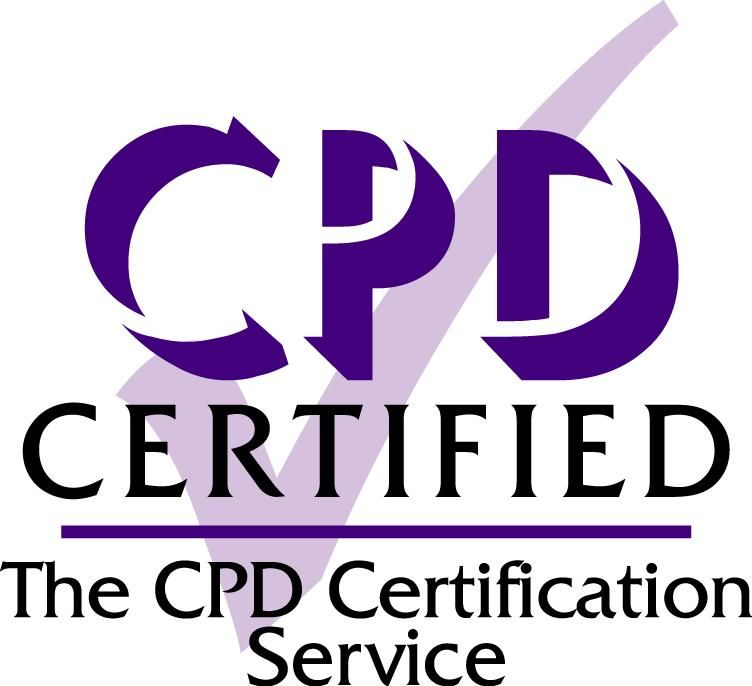 Stress Management Online Training (approved by CPD). CPD logo.