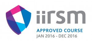 Manual handling online training (approved by IIRSM and CPD). IIRSM logo.